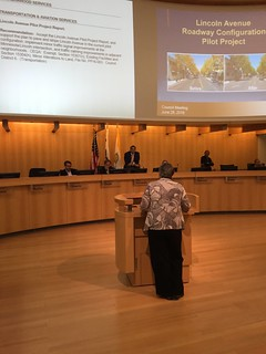 Katy Dickinson speaking to San Jose Mayor and City Council 28 June 2016