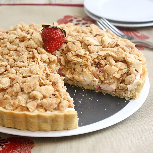 Strawberry Cream Cheese Crumble Tart | by Tracey's Culinary Adventures