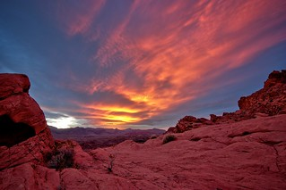 The sky too is on fire - Valley of fire state park, NV | by tony.mignot
