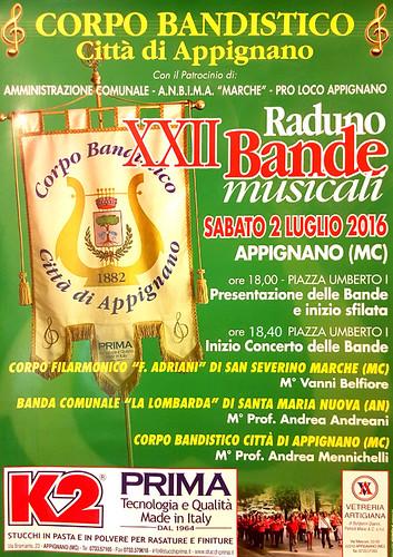 La Banda Adriani al XXII RADUNO DELLE BANDE ad Appignano