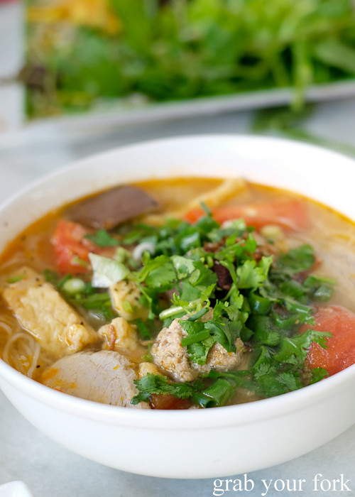 Bun rieu pork and crab noodle soup from Thy Vietnamese Eatery, Bankstown