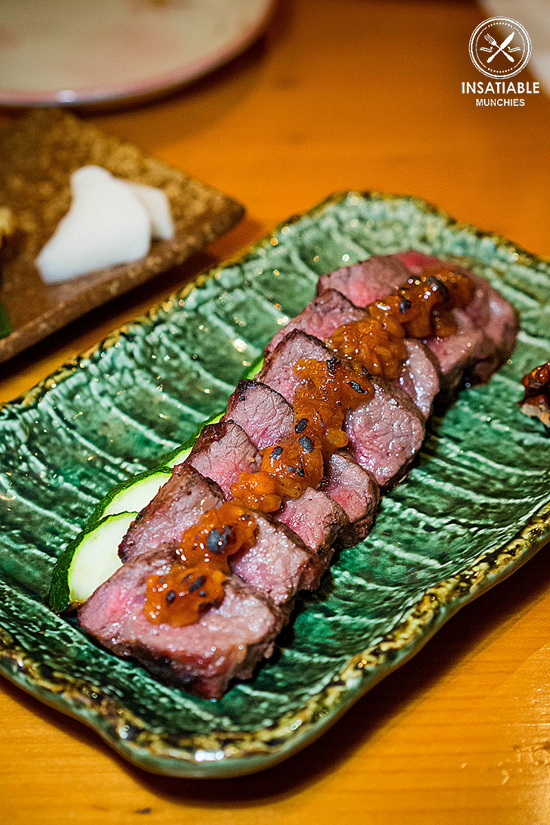 Wagyu Beef Steak: En Toriciya, Crows Nest. Sydney Food Blog Review