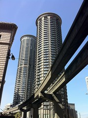 Westin Seattle and Monorail Tracks by Richard Eriksson