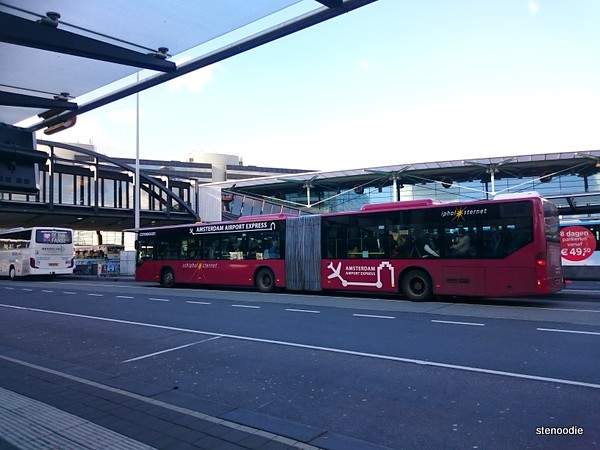 Bus at Amsterdam Airport Schiphol