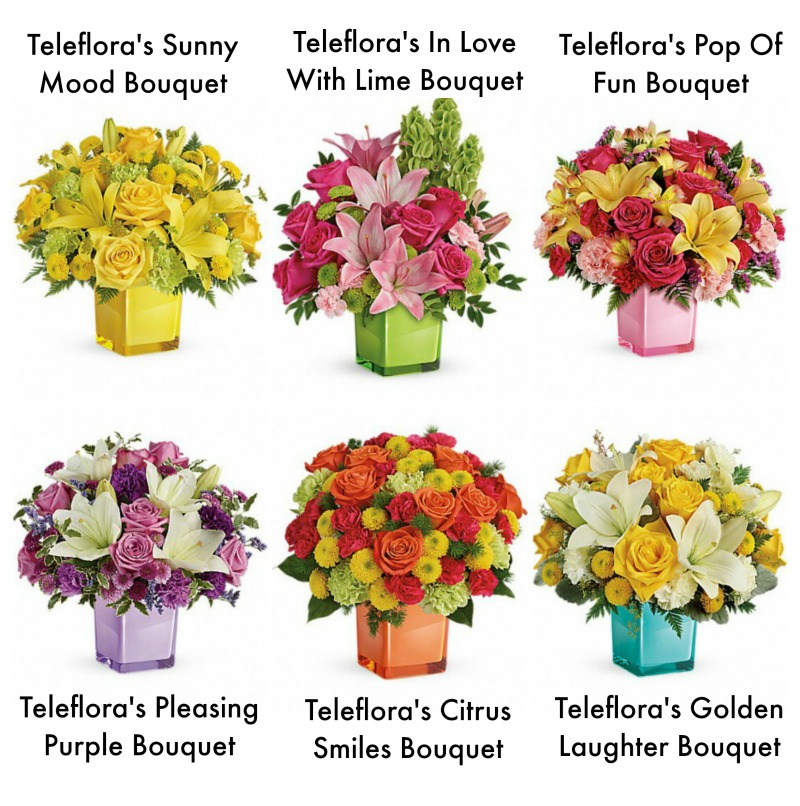 Teleflora Color Cube Collection Selections collage