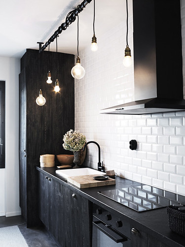 black kitchen | by the style files
