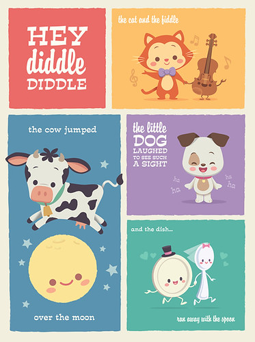 Kawaii Hey Diddle Diddle Limited Edition Print | by Jerrod Maruyama