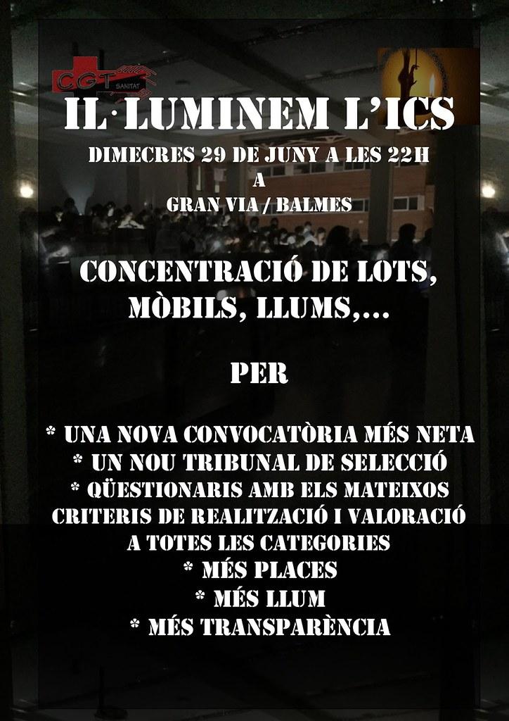 2016.06.29 Cartell Concentració Il.luminem l´ICS nit