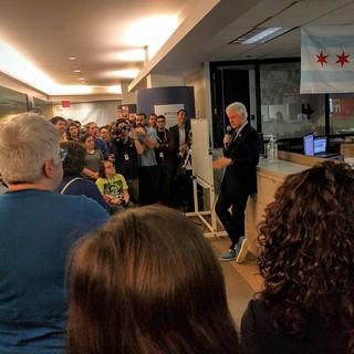 I met President Bill Clinton today.