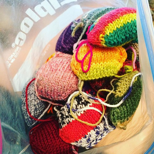 Found my neglected bag of #hexipuffs Goal is to fill another bag in 2 months 1-2/day.