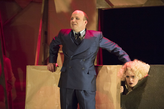 RORY KINNEAR (Macheath) and REBECCA BREWER (Betty) Photo credit:  Richard H Smith