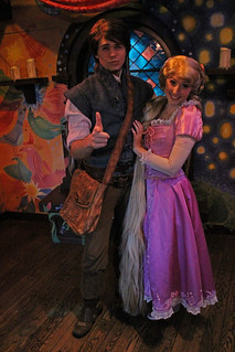 Meeting Flynn Rider and Rapunzel | by Castles, Capes & Clones