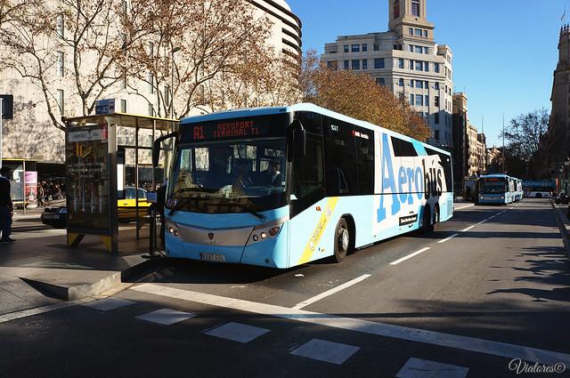 Aerobus. Barcelona. Spain