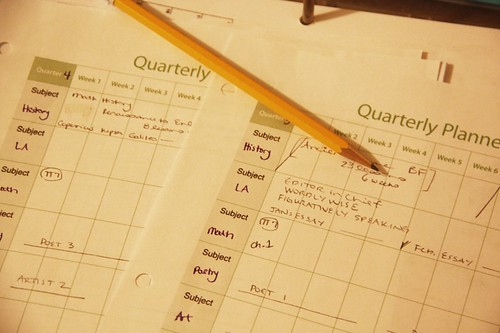 planner pages with pencil | by jimmiehomeschoolmom