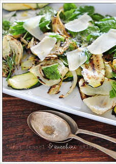 burnt fennel & zucchini salad | by jules:stonesoup
