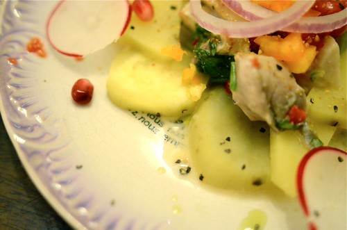 Jack Fish, Raddish and Sweet Potatoe Ceviche | by The Hungry Cyclist