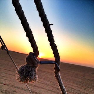 #sunset #tent @ #Kuwait #iphoneography #iphonesia | by Fe9L Q8