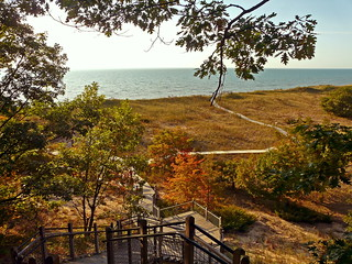Lake Michigan from bluff at Rosy Mound Natural Area  [RM 1/18] | by jimflix!
