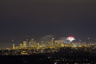 NYE 2012: Space Needle Fireworks + Seattle Skyline | by Atomic Taco