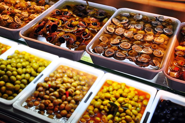 Olives, Olives and More Olives at the Mercado San Miguel