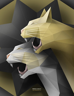 Geometric Cats - Final | by Marcelo Schultz