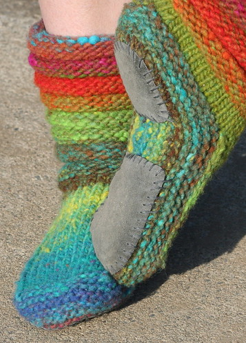 Mukluk Knitting Pattern : Mukluk Slippers Knitting Pure & Simple pattern, Noro Hitsu? Flickr