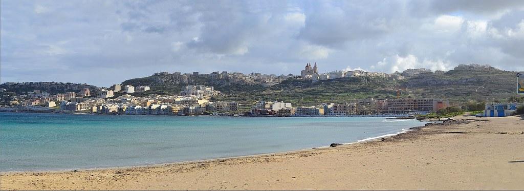Mellieha Bay. Malta. Panorama. Nikon D3100. DSC_0930.