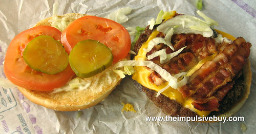 Jack in the Box BLT Cheeseburger Innards | by theimpulsivebuy