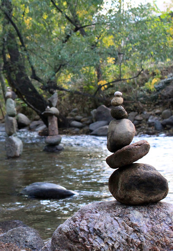 Cairns in the Creek -- 3 | by Toria Clark