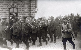 British POWs are herded through the streets of Munster enroute to captivity | by ✠ drakegoodman ✠