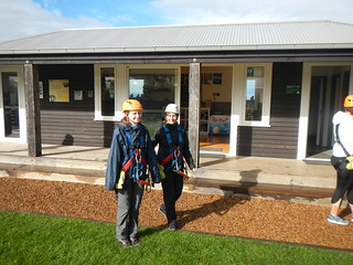 Nadine and Kelsea Geared up for Zip Line