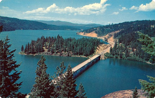 Postcard: Blue Creek Bay Bridge on Lake Coeur d'Alene, Idaho | by jmlwinder
