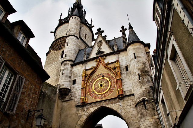Clock Tower in Auxerre