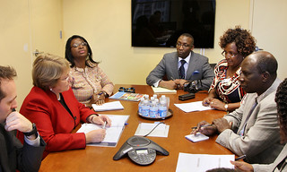 UN Women Executive Director Michelle Bachelet meets with Dr. Naomi Shaban, Minister for Gender, Children and Social Development and Linah Kilimo, Asistant Minister for Co-Operative Development of the Republic of Kenya | by UN Women Gallery