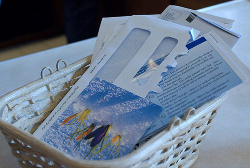 "Start a ""Mail Basket"" and Process It Weekly (110/365) 