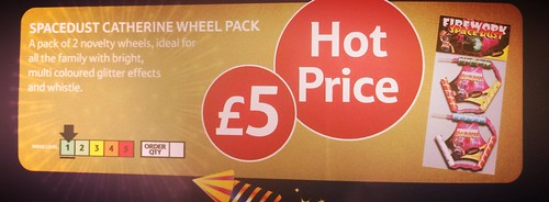 £5 TESCO PRICE - Space Dust Wheel Pack by Standard Fireworks