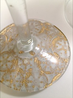 09 Gilded Lace Champagne Glasses | by fabricpaperglue