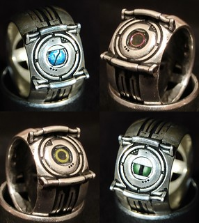 Portal Corrupt Core Rings (Silver) | by ammnra