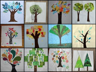 Tree block inspiration mosaic | by Em@sewingbymoonlight