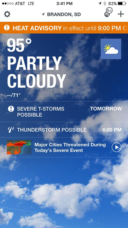 South Dakota. 100 degree heat advisory day, aka hell.
