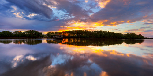 Hunter River Sunset pano | by Stevpas68