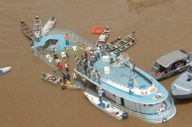 Justiça condena responsáveis por naufrágio de embarcação da linha Alenquer-Manaus, almirante monteiro