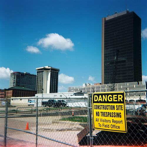 Danger: Construction Site No Trespassing