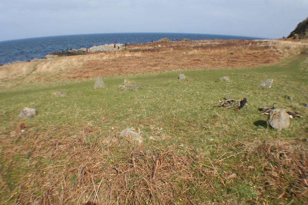 Prehistoric Stone Circle on shoreline at Lochranza, Arran.