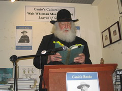 LIer Darryl Ford as Whitman reading at Canio's Leave of Grass marathon 052116