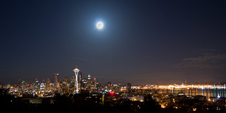 Supermoon Seattle | by architecturegeek