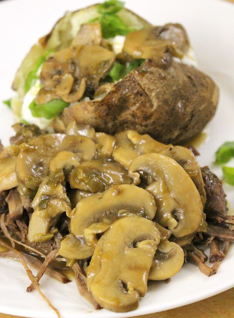 Instant Pot Old School Swiss Steak with Mushroom Gravy