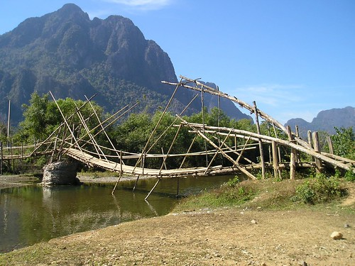 Dry Season Bridge, Laos | by Blue Wind Girl