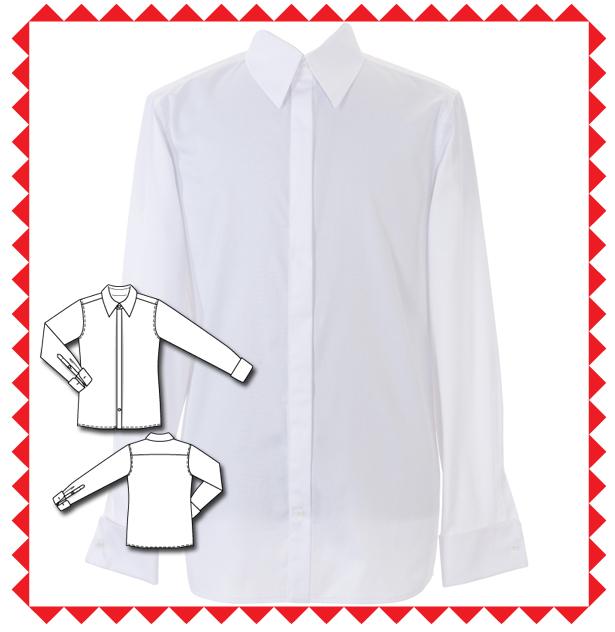 144 Men's Long Sleeve Shirt Sewing Pattern