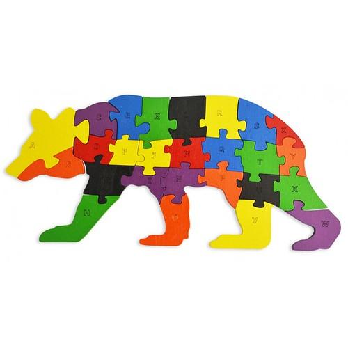 Lắp ghép đồ chơi gỗ - con gấu